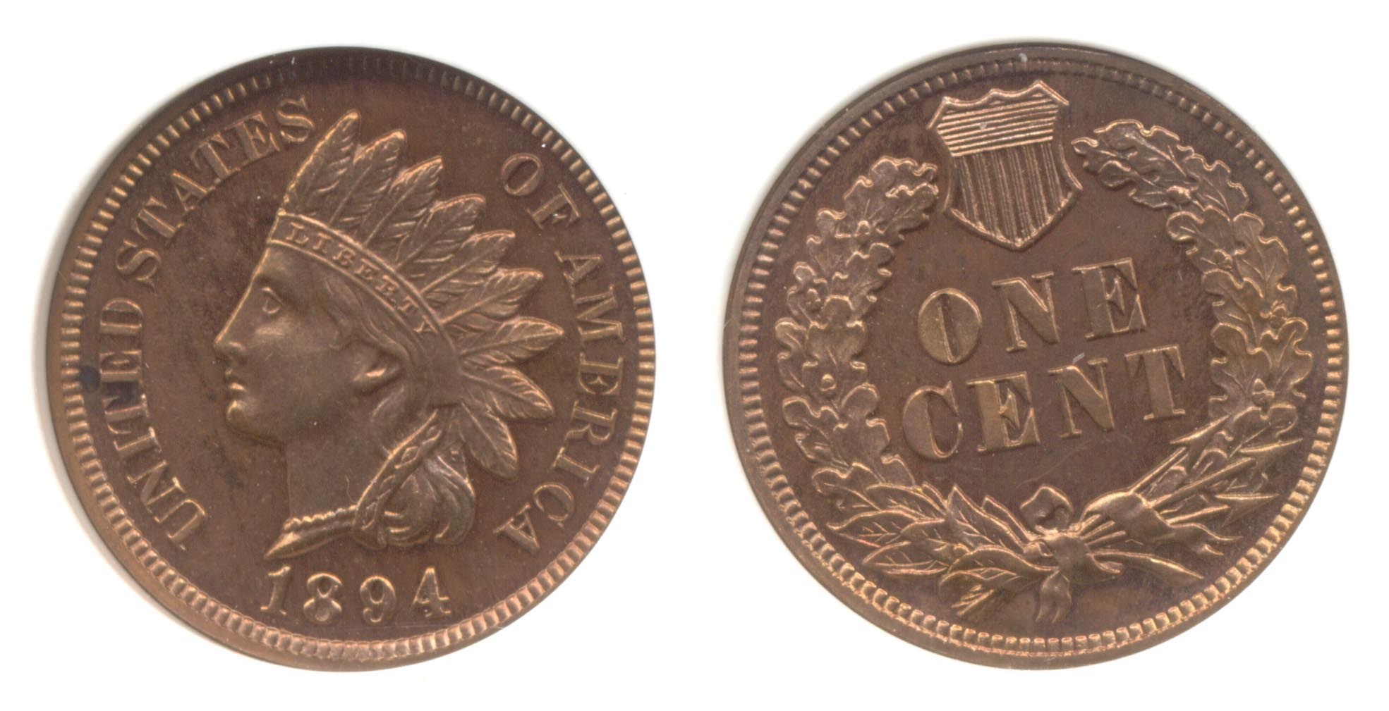 1894 Indian Head Cent PCI Proof-65 Red