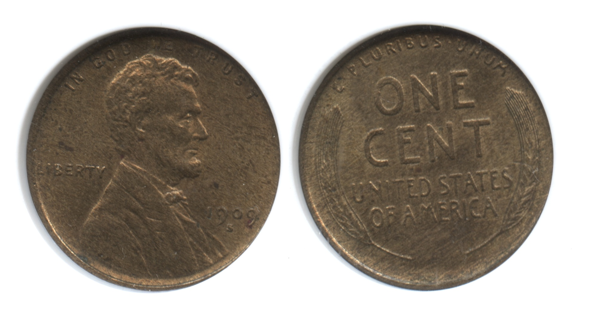 1909-S VDB Lincoln Cent ANACS MS-62 Weak VDB