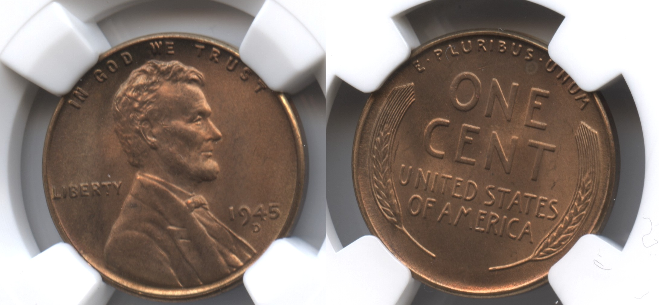 1945-D Lincoln Cent NGC MS-66 Red #k