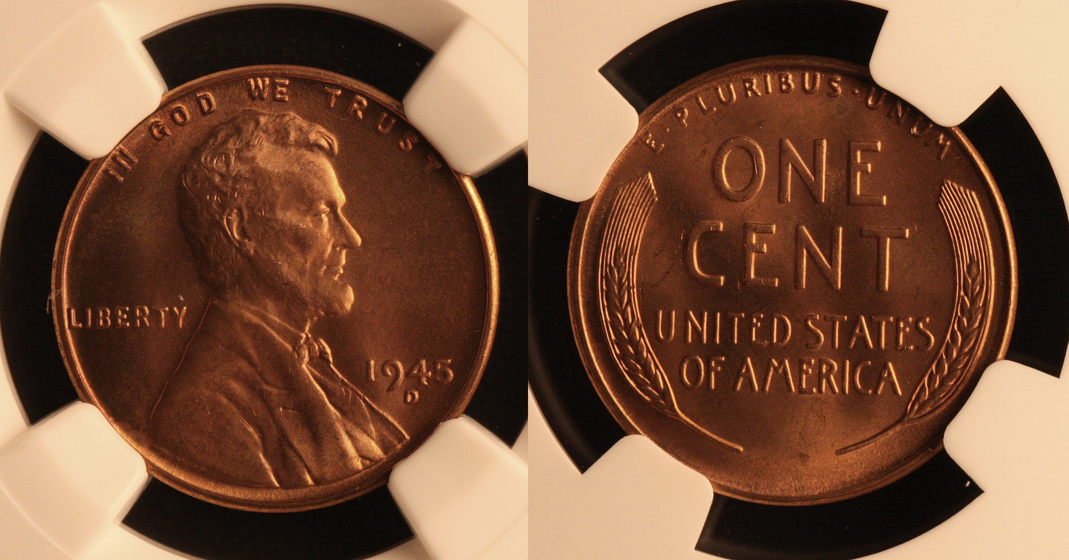 1945-D Lincoln Cent NGC MS-66 Red #k camera
