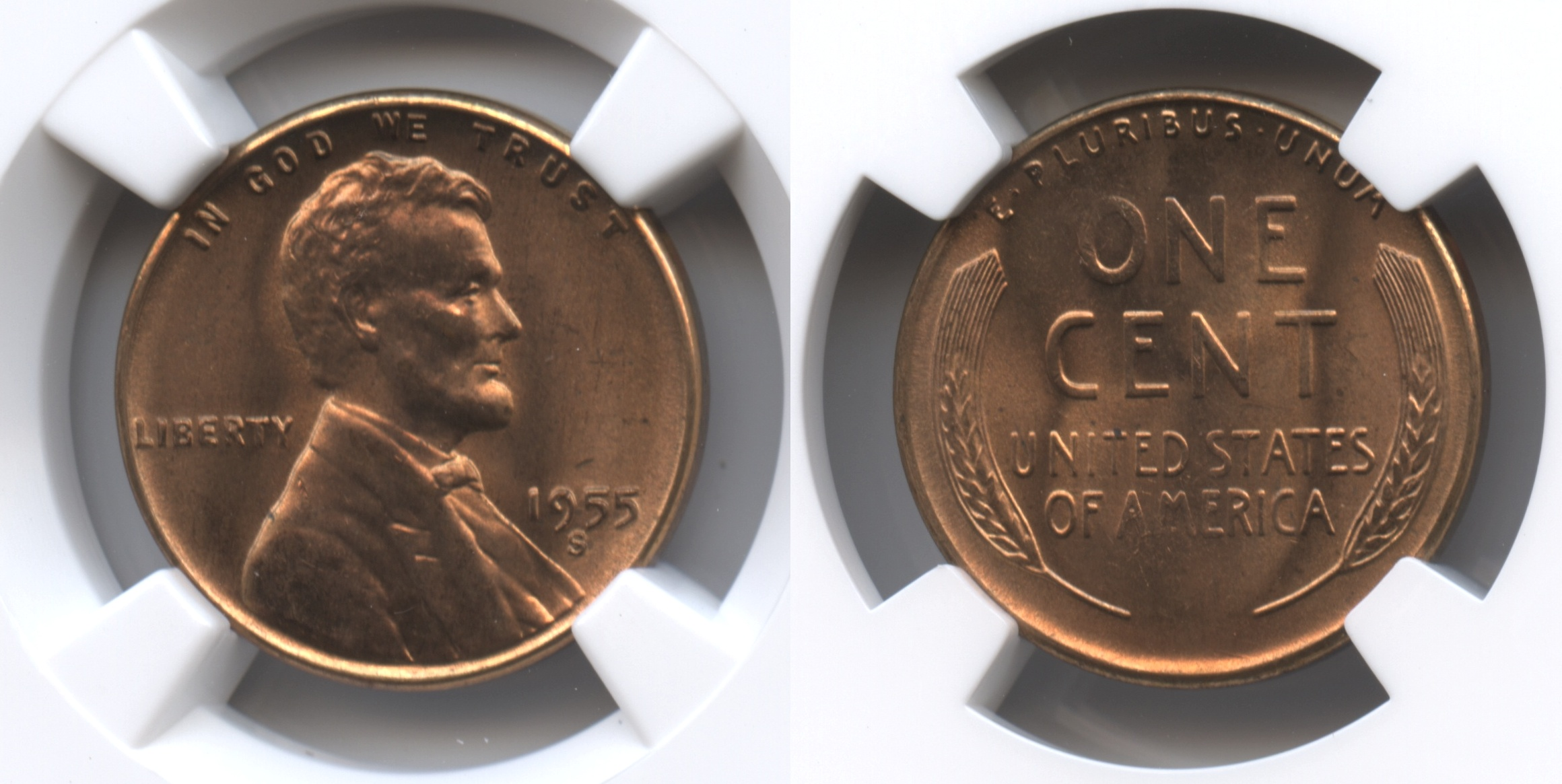 1955-S Lincoln Cent NGC MS-66 Red #i