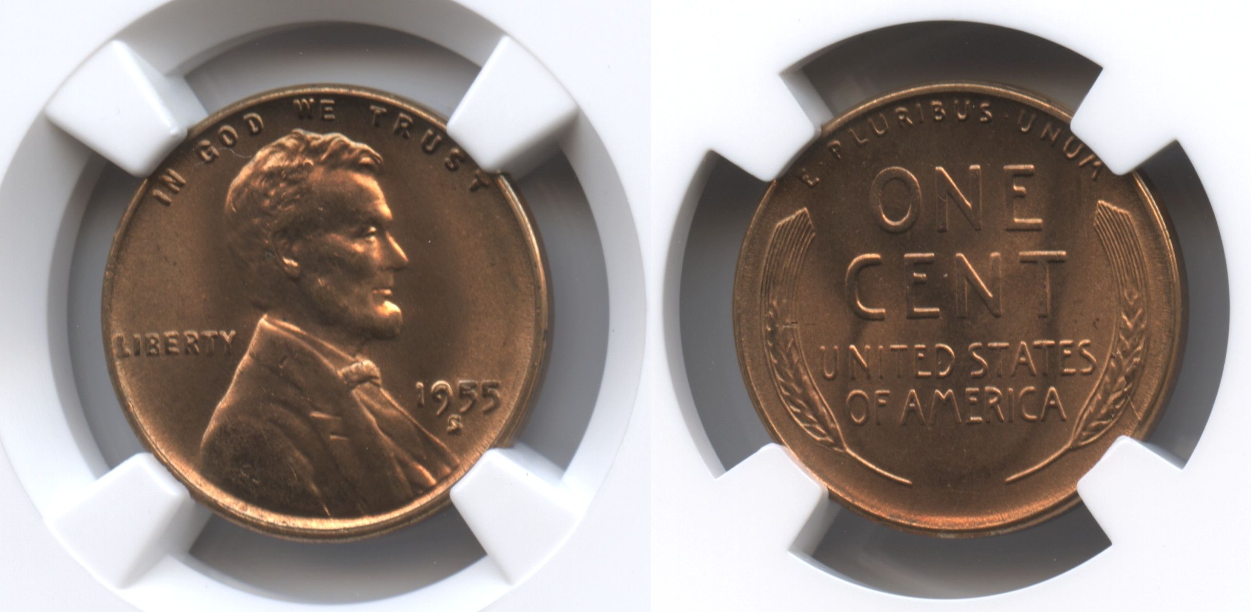 1955-S Lincoln Cent NGC MS-66 Red #j