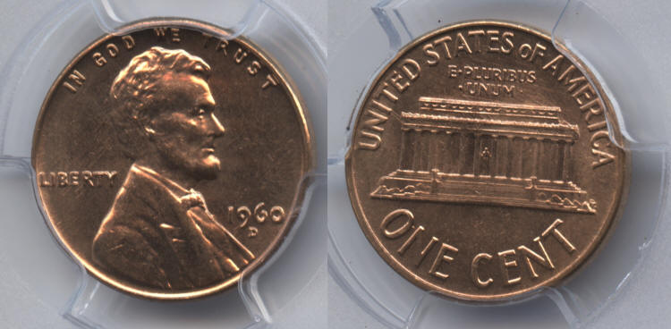 1960-D Small Date Lincoln Cent PCGS MS-65 Red small