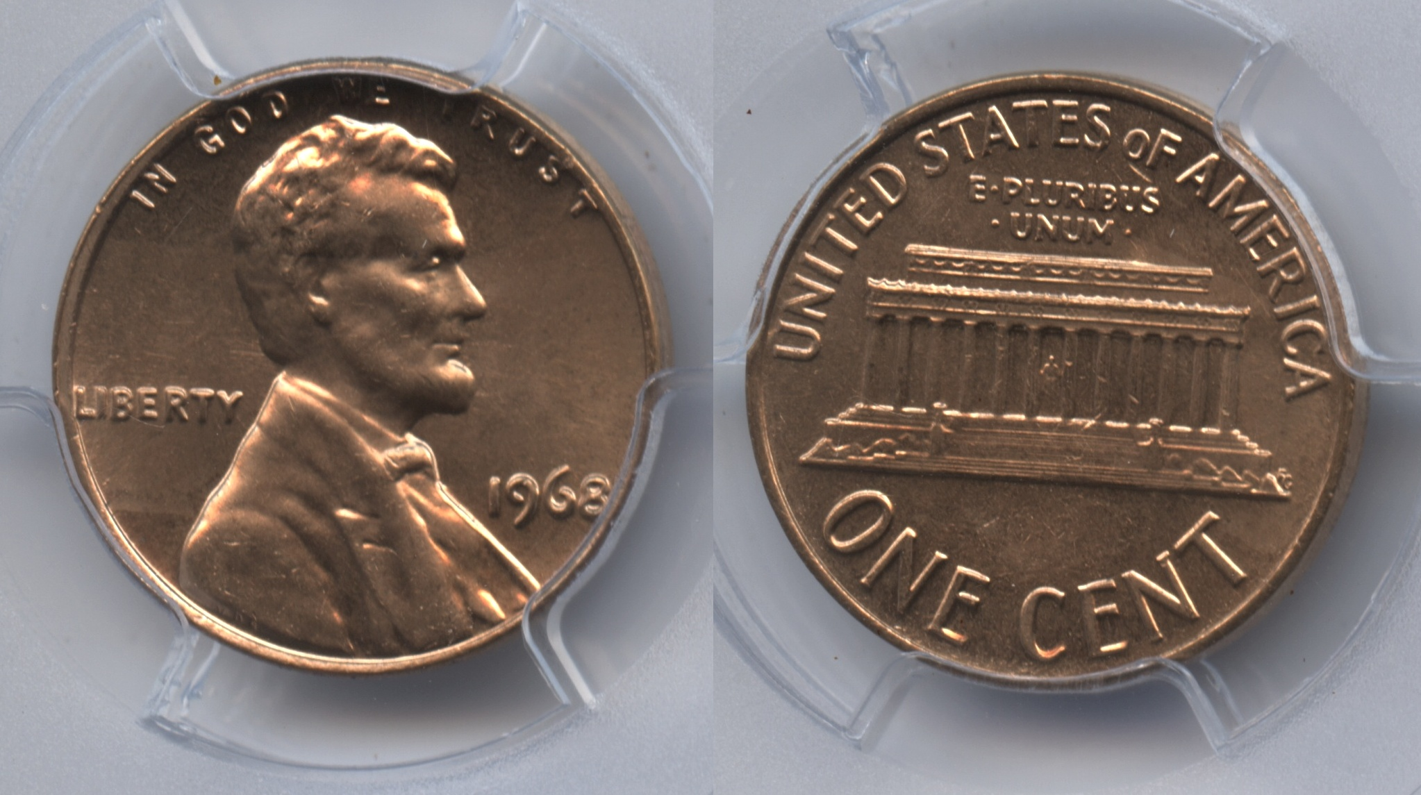 1968 Lincoln Cent PCGS MS-64 Red #e