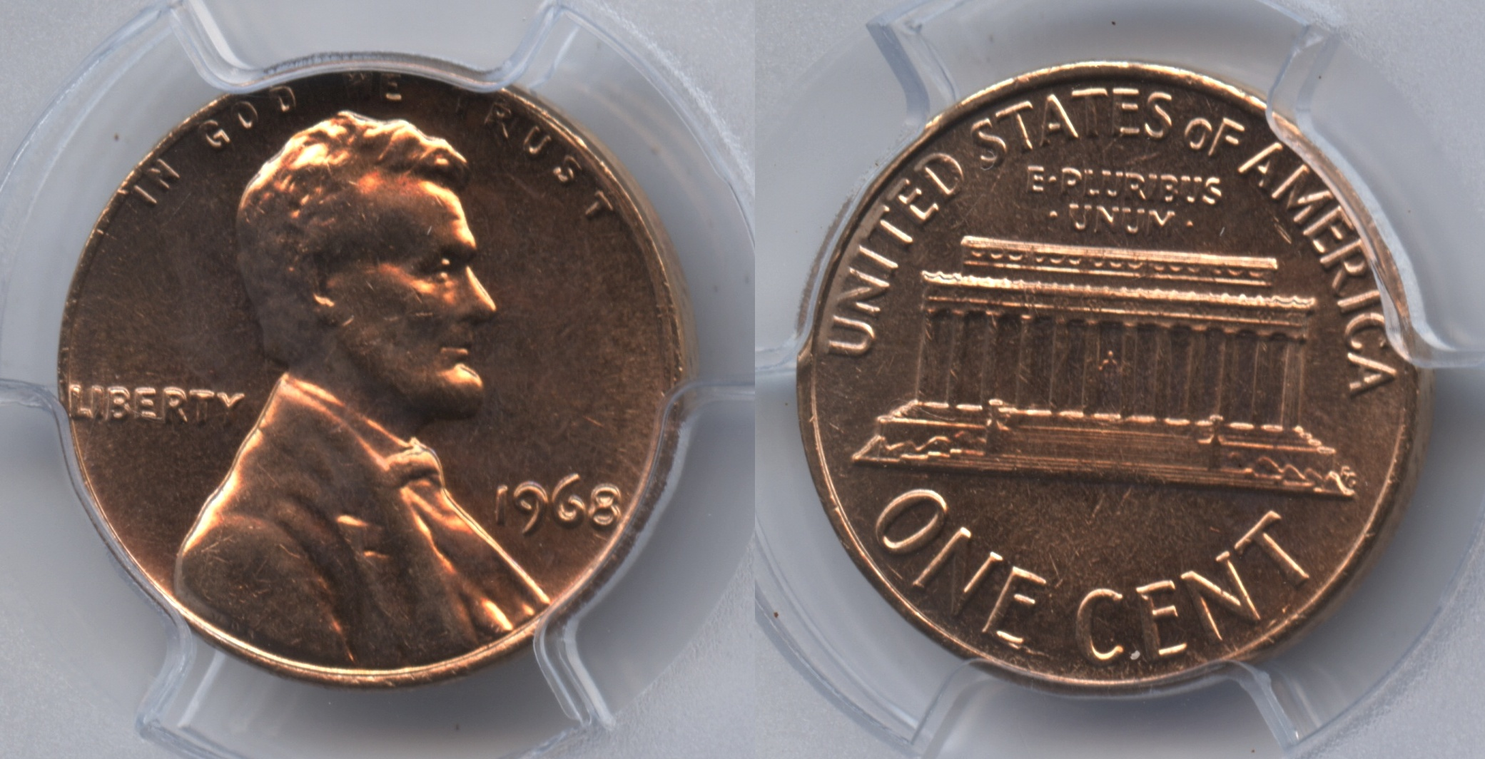 1968 Lincoln Cent PCGS MS-65 Red