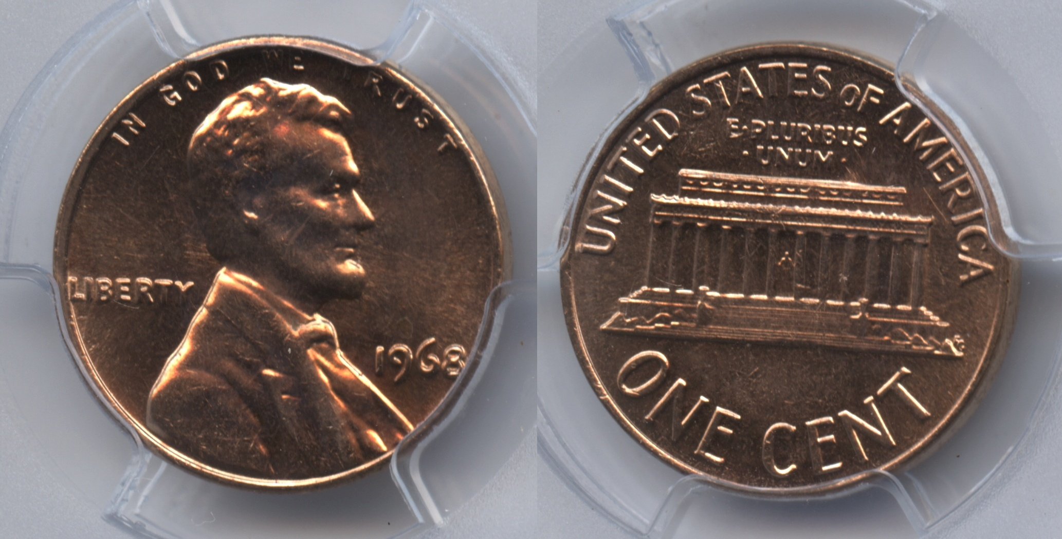 1968 Lincoln Cent PCGS MS-65 Red #h