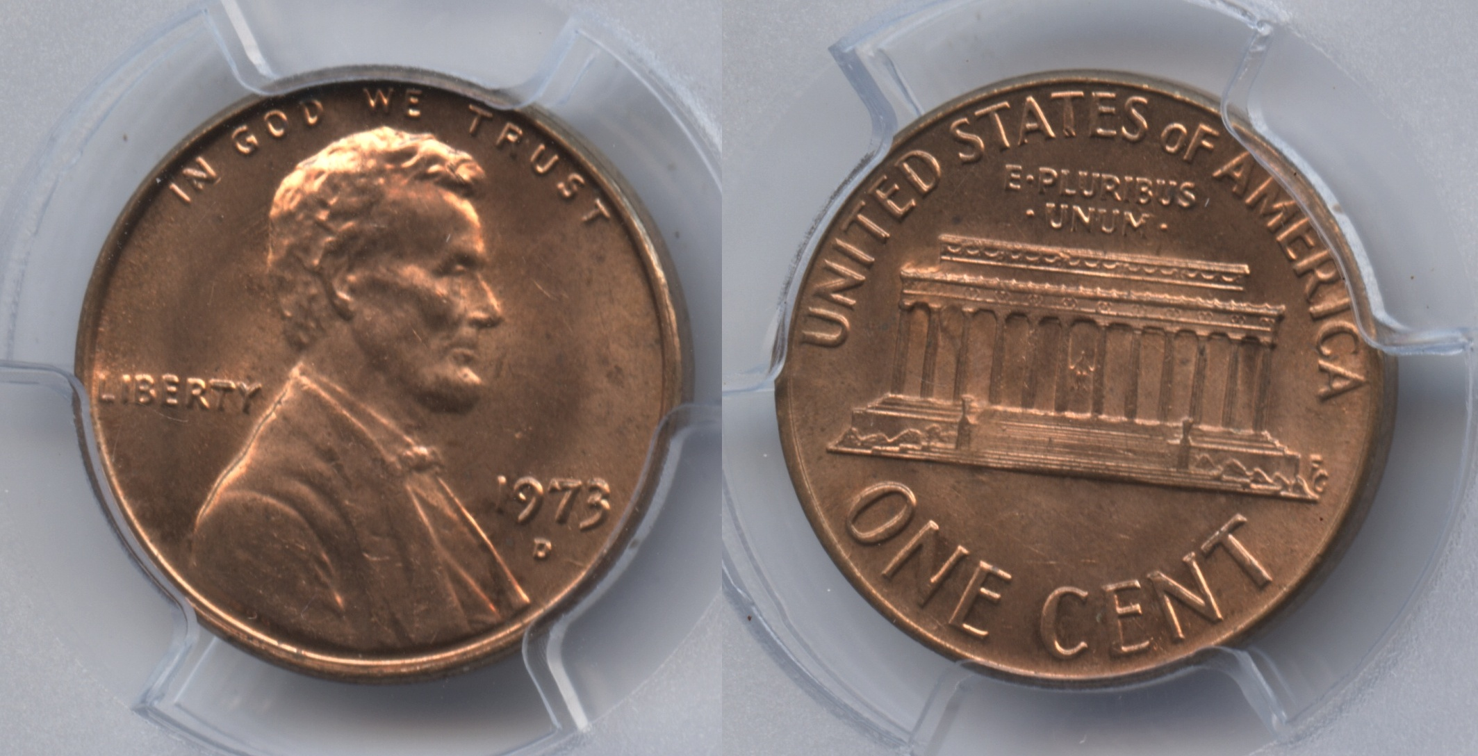 1973-D Lincoln Cent PCGS MS-65 Red
