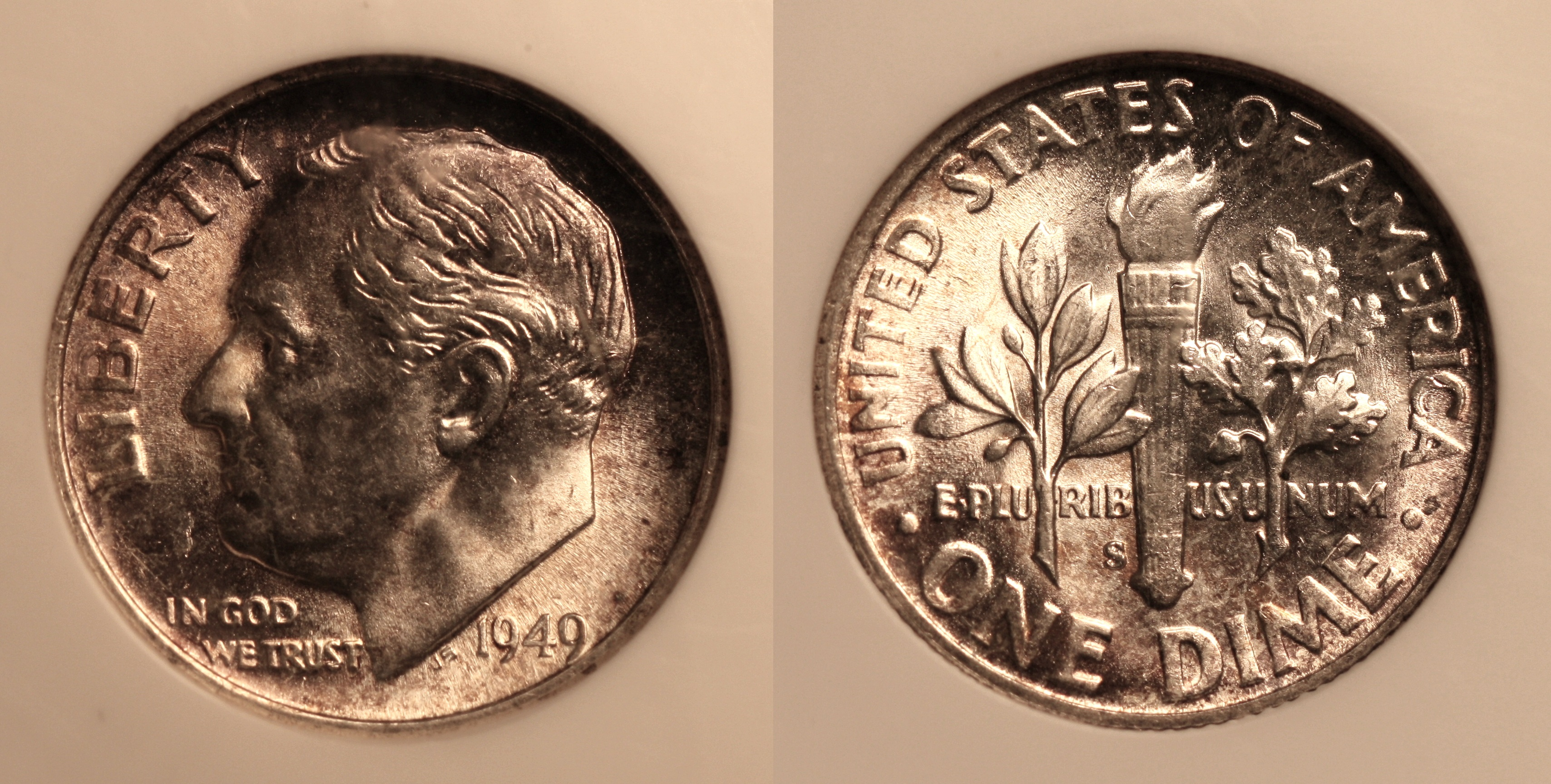 1949-S Roosevelt Dime NGC MS-66 camera