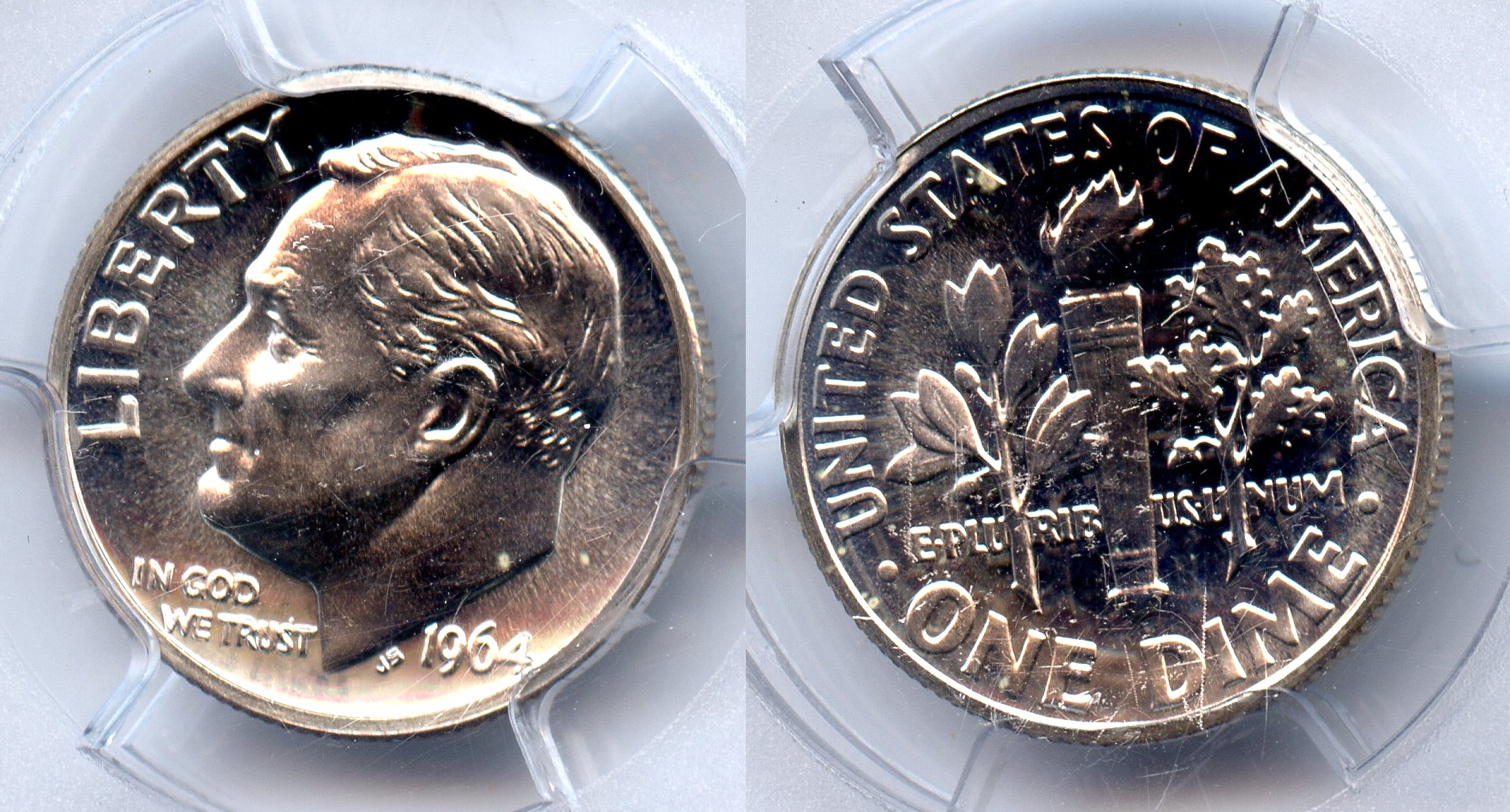 1964 Roosevelt Dime PCGS Proof-66