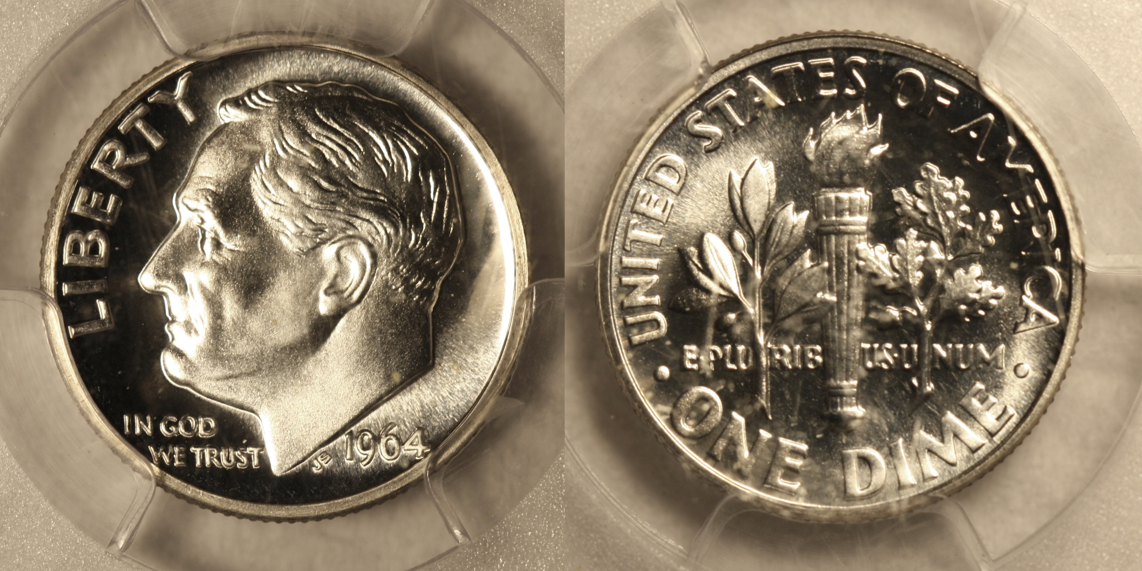 1964 Roosevelt Dime PCGS Proof-66 camera
