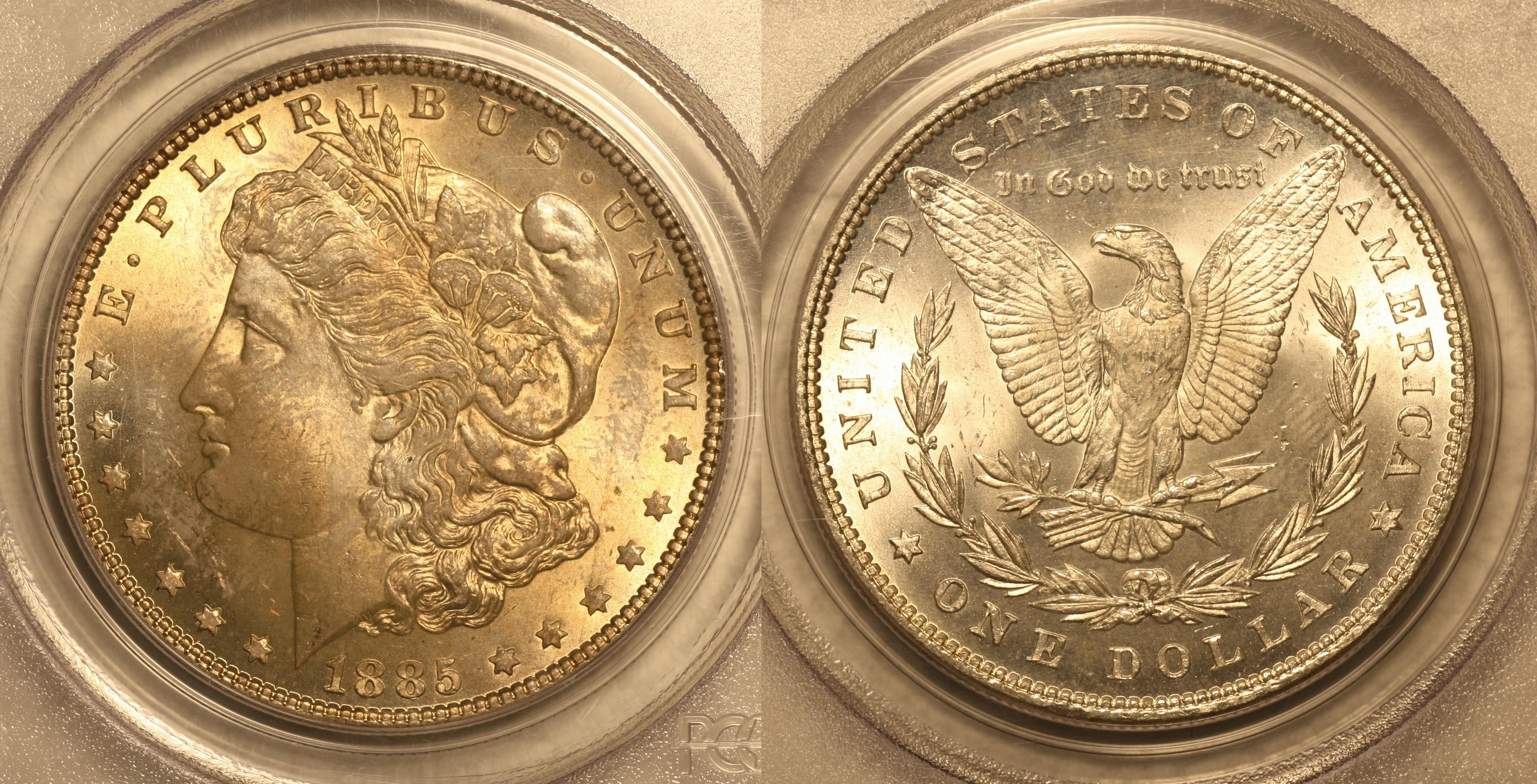 Alaska Coin Exchange Presents The 1885 Morgan Silver