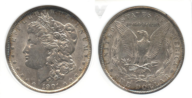 1901 Morgan Silver Dollar ANACS AU-55 small