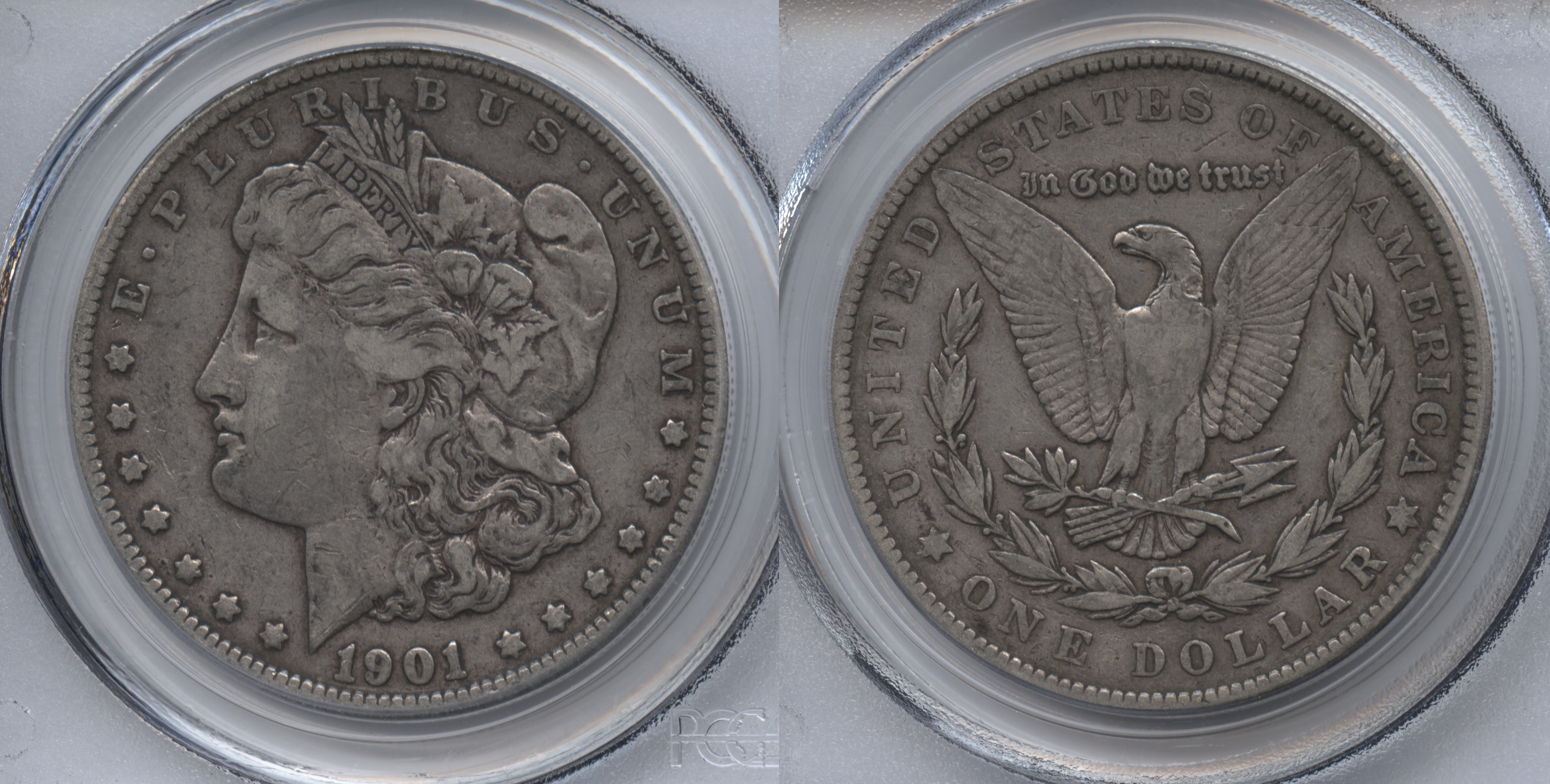 1901 Morgan Silver Dollar PCGS VF-30