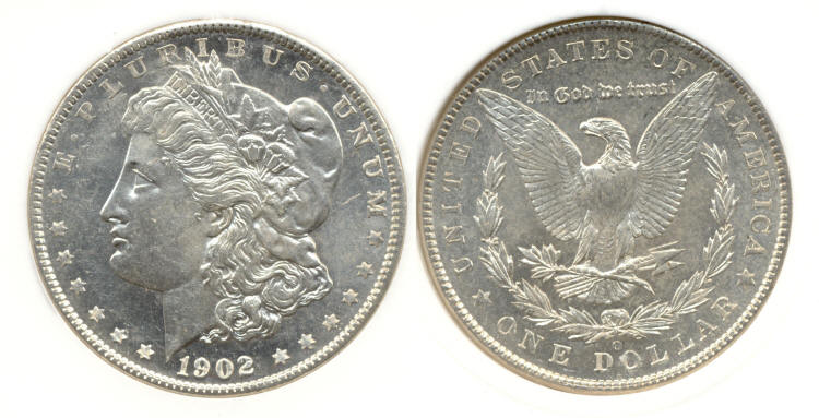 1902-O Morgan Silver Dollar in PCI MS-63 DMPL small