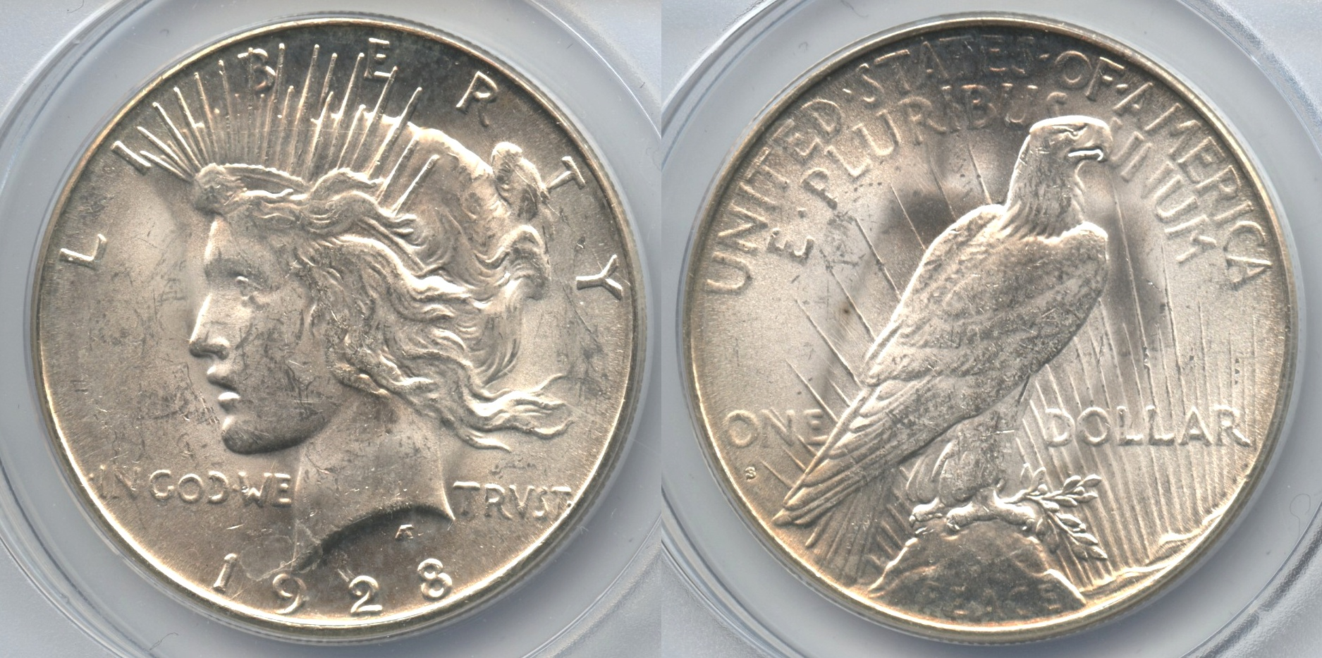 1928-S Peace Silver Dollar ANACS MS-63
