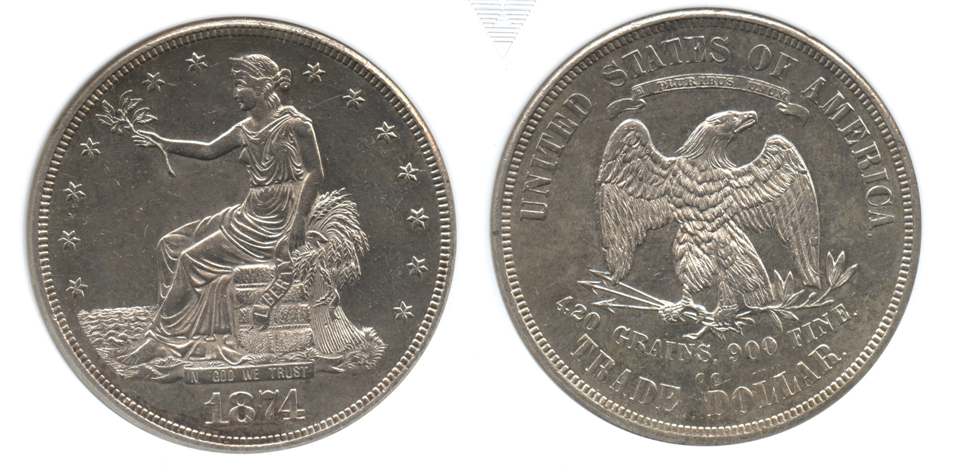 1874-CC Trade Dollar ANACS MS-60