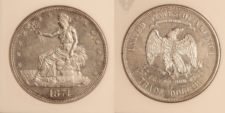 1874-CC Trade Dollar ANACS MS-60 camera small