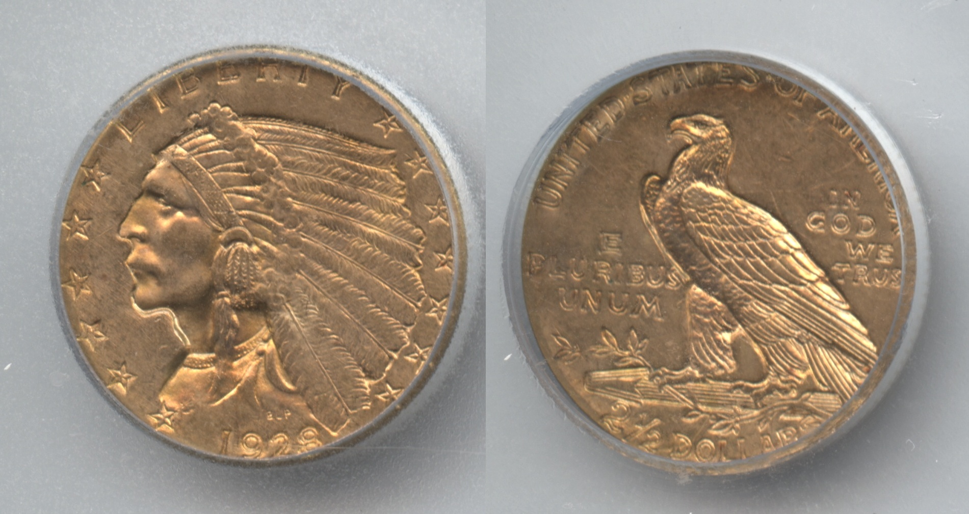 1928 Indian Head Gold $2.50 Quarter Eagle ICG MS-63