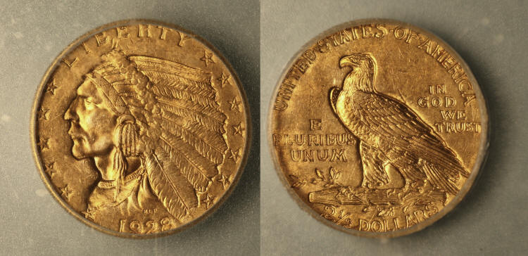 1928 Indian Head Gold $2.50 Quarter Eagle ICG MS-63 camera small