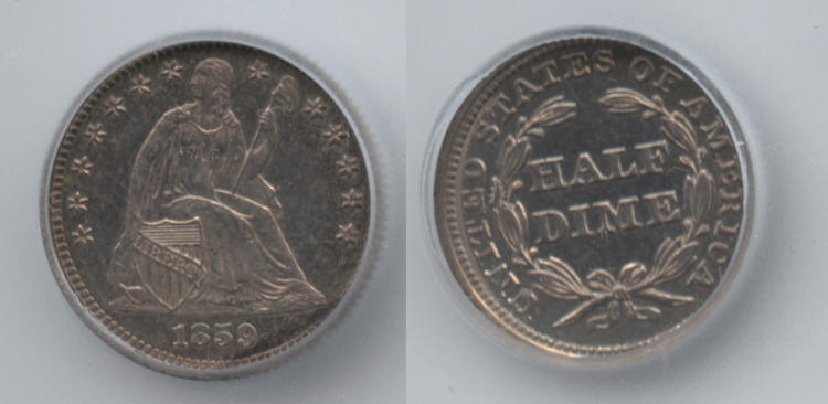 1859 Seated Liberty Half Dime ICG Proof-65 small
