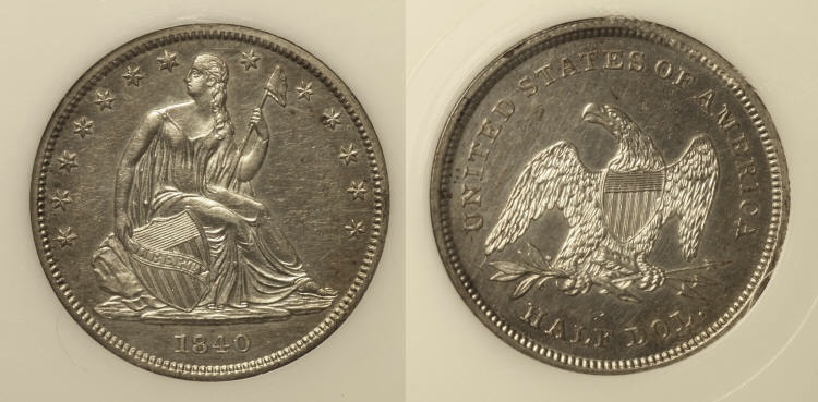 1840 Seated Liberty Half Dollar PCI Proof-60 camera small