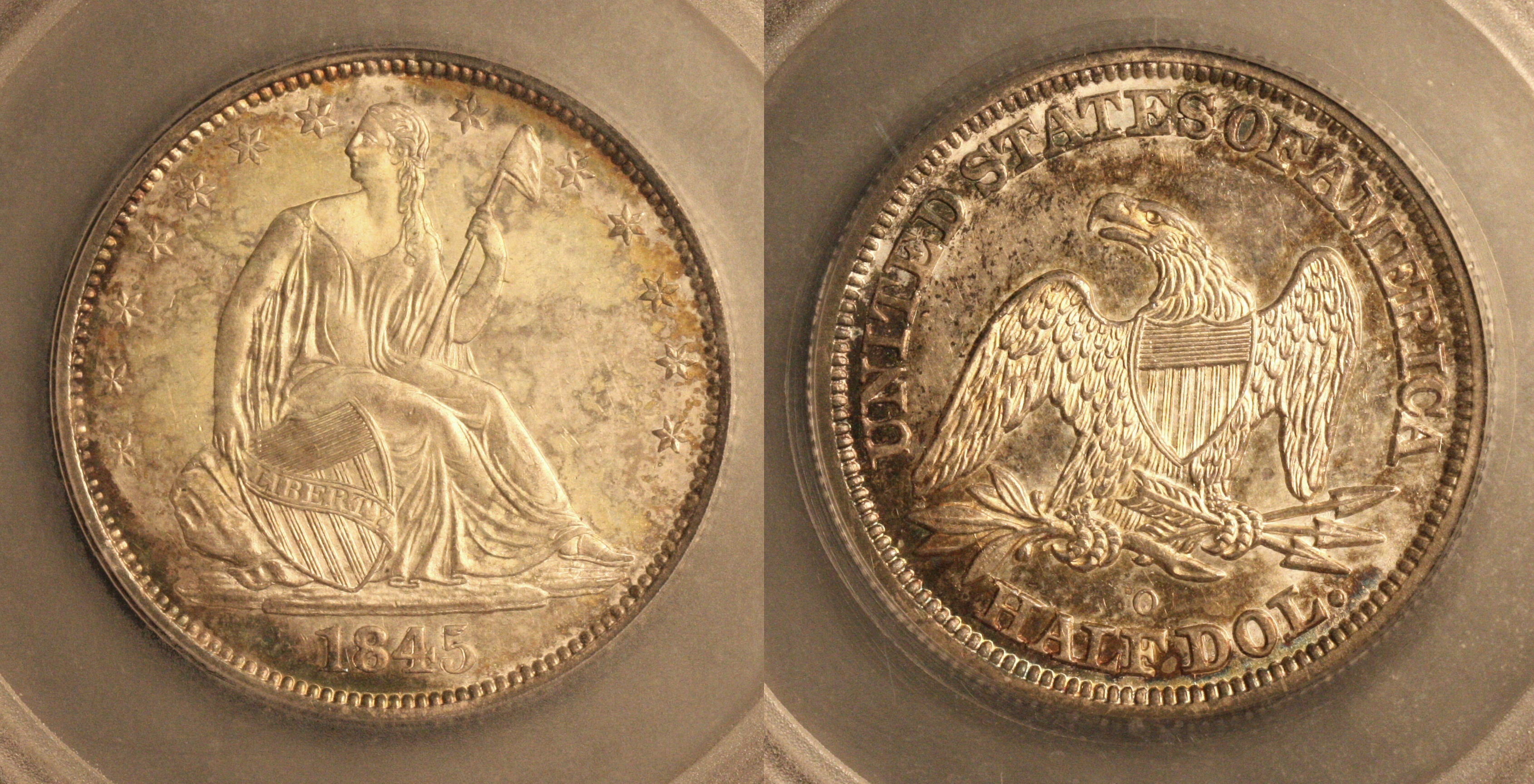 1845-O Seated Liberty Half Dollar SEGS MS-64 camera