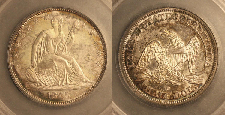 1845-O Seated Liberty Half Dollar SEGS MS-64 camera small