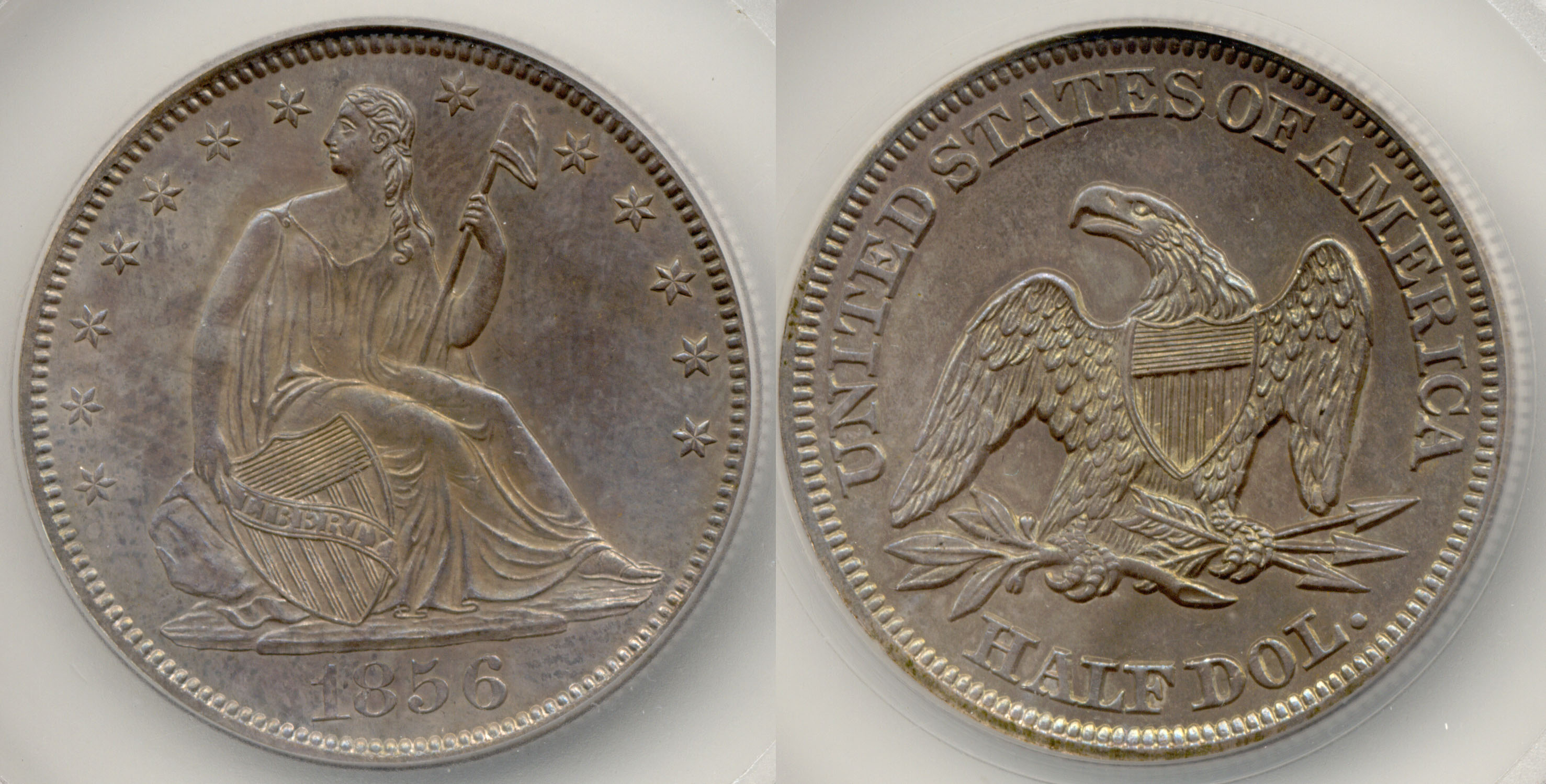 1856 Seated Liberty Half Dollar SEGS MS-64
