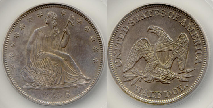 1856 Seated Liberty Half Dollar SEGS MS-64 small