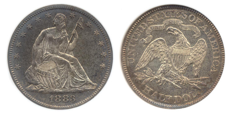 1883 Seated Liberty Half Dollar PCI Proof-66 small