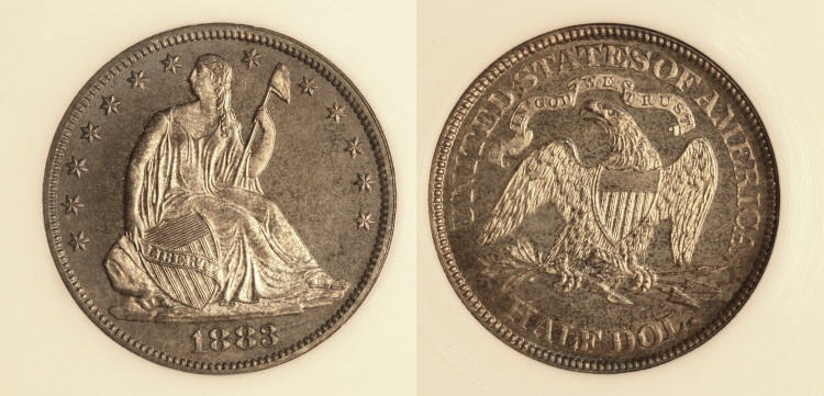 1883 Seated Liberty Half Dollar PCI Proof-66 camera small