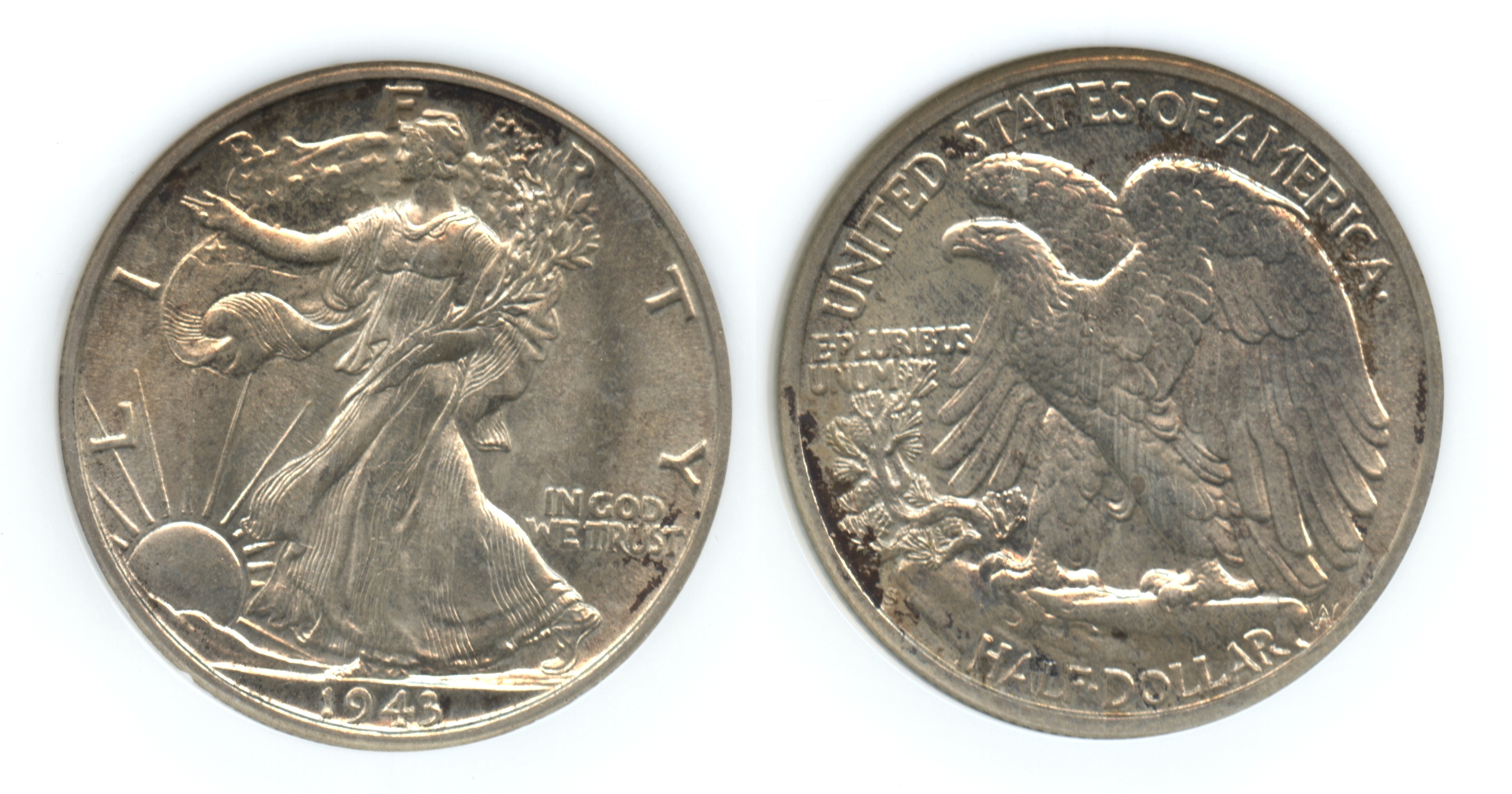 1943-S Walking Liberty Half Dollar NGC MS-65