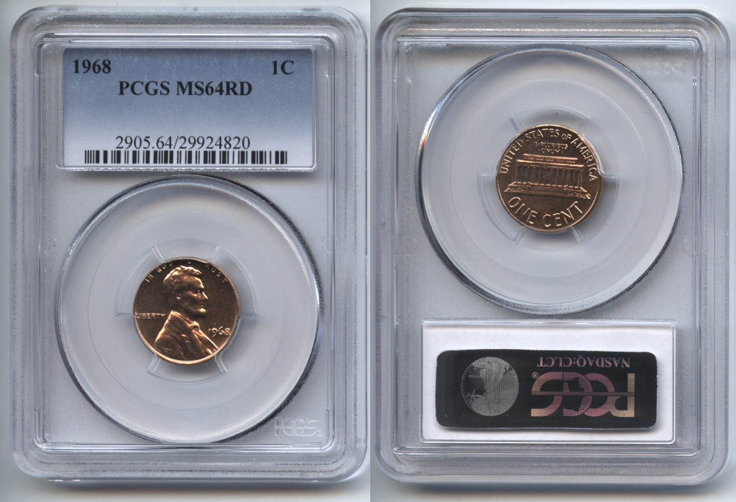 1968 Lincoln Cent PCGS MS-64 Red #d