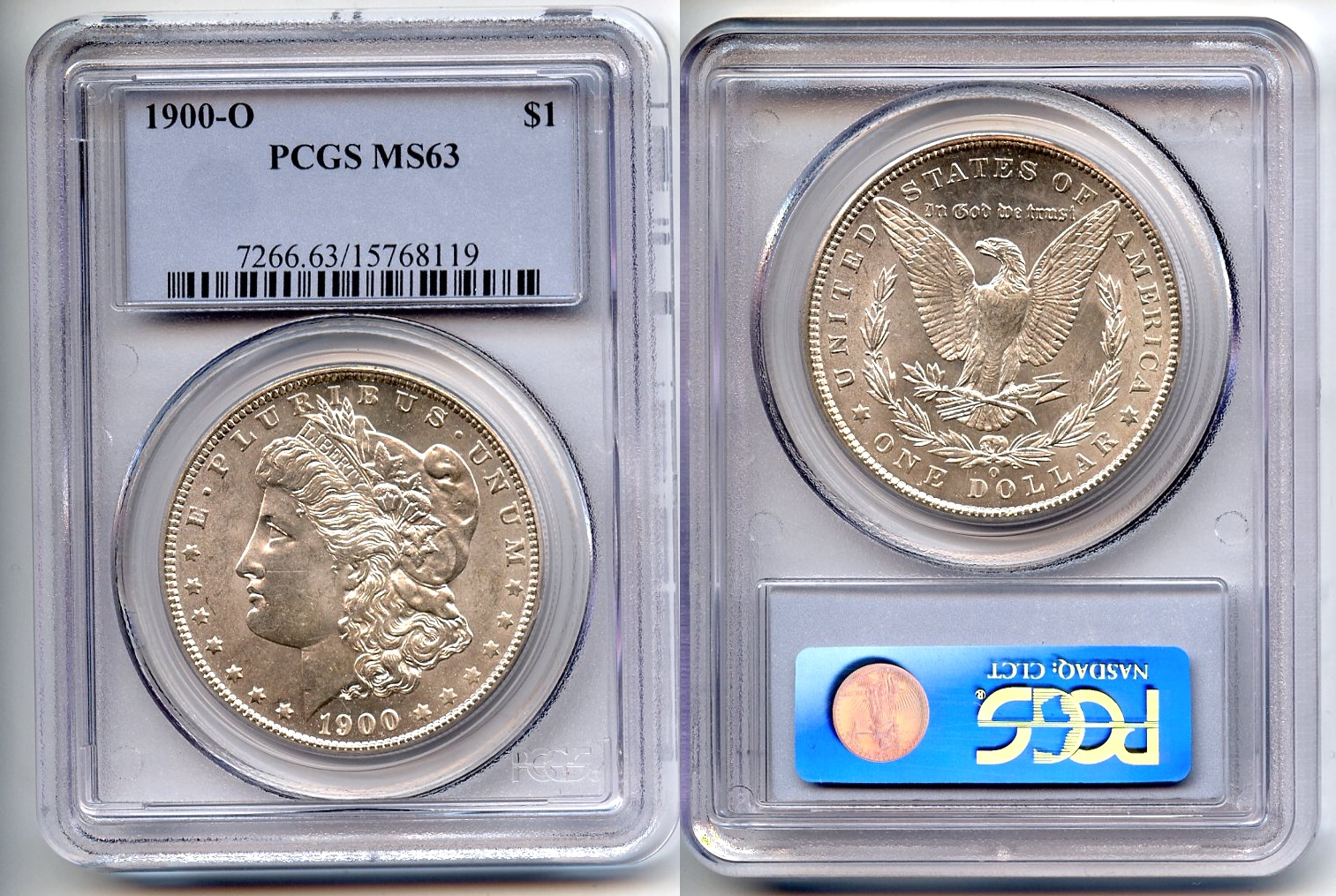 1900-O Morgan Silver Dollar PCGS MS-63