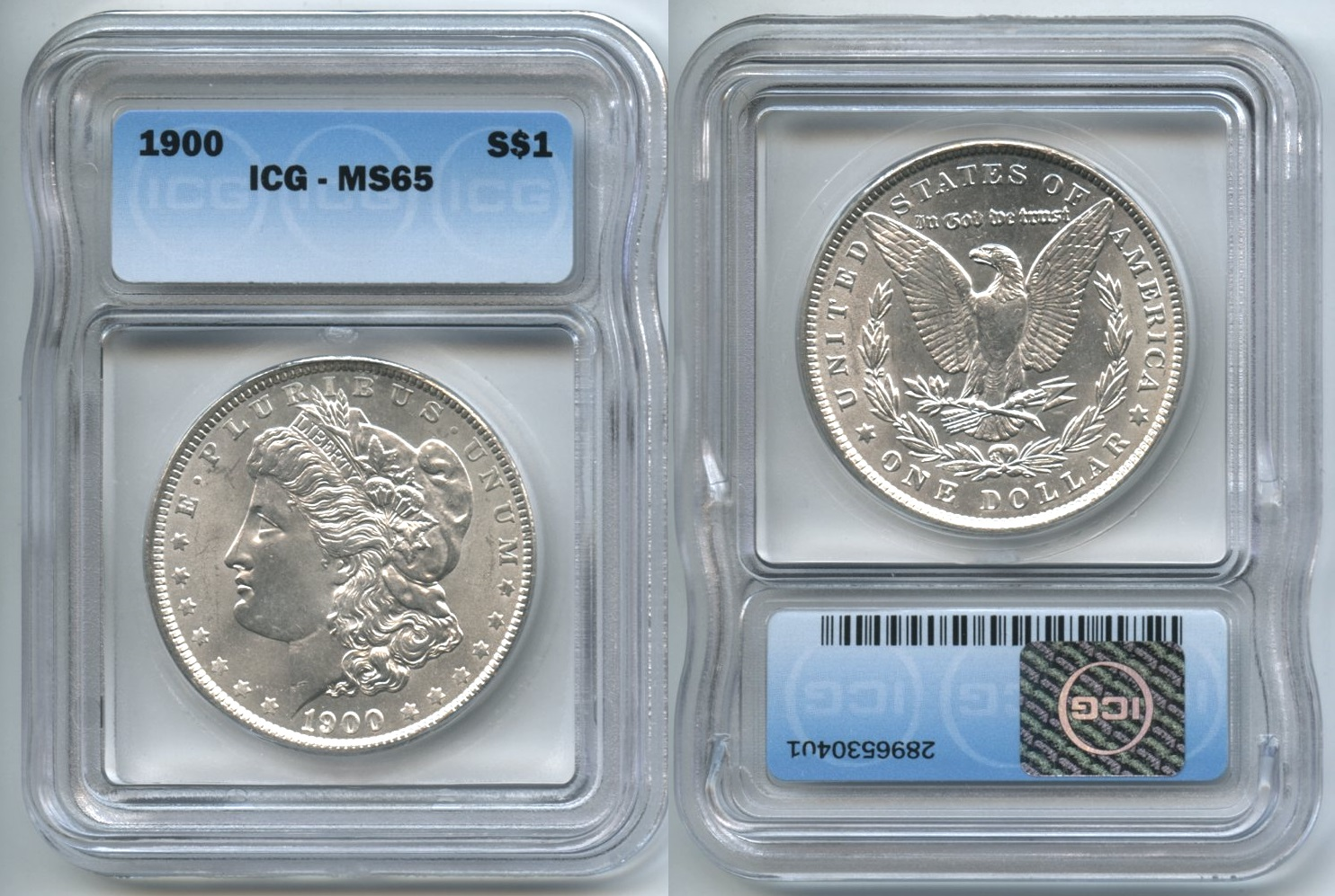 1900 Morgan Silver Dollar ICG MS-65