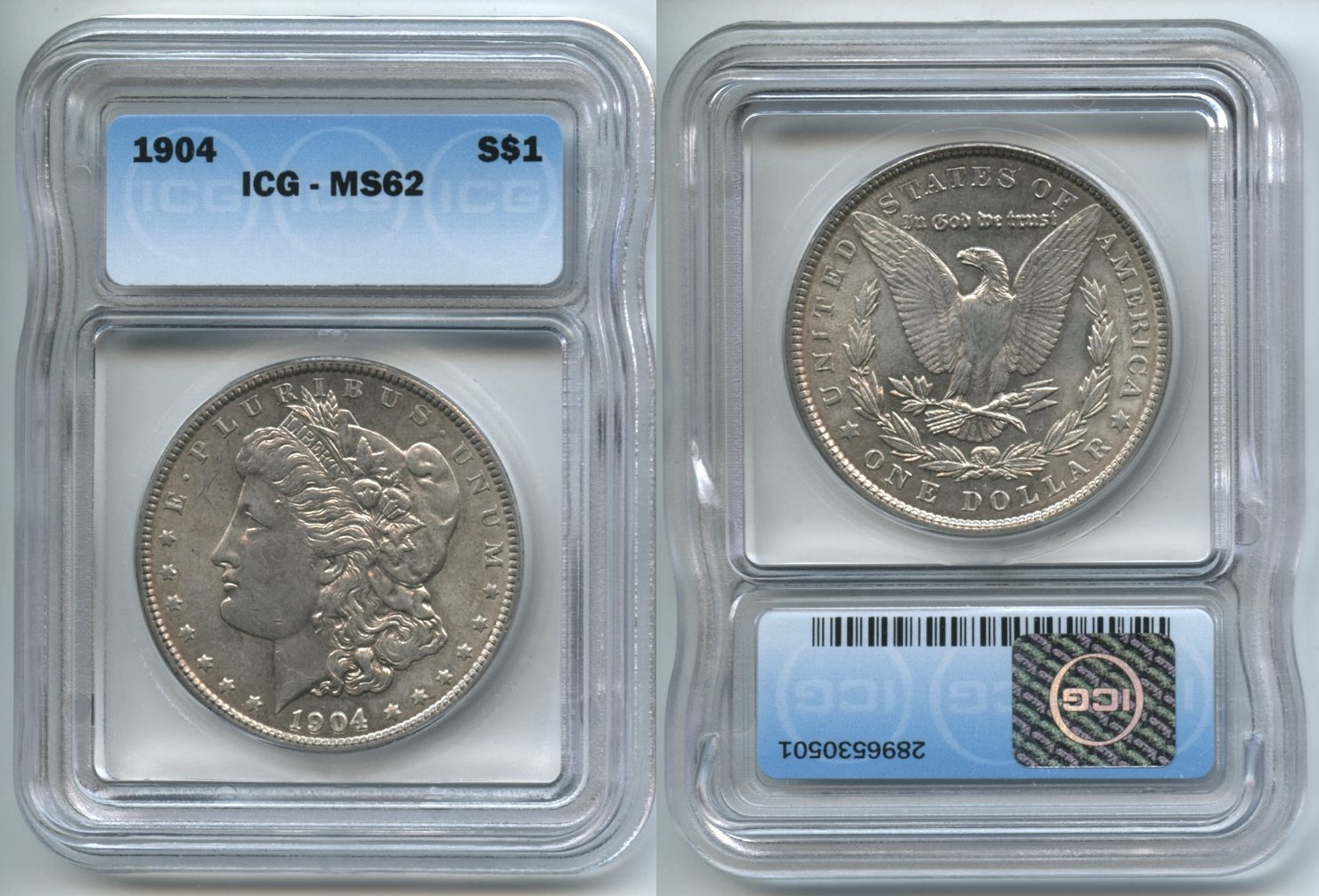 1904 Morgan Silver Dollar ICG MS-62
