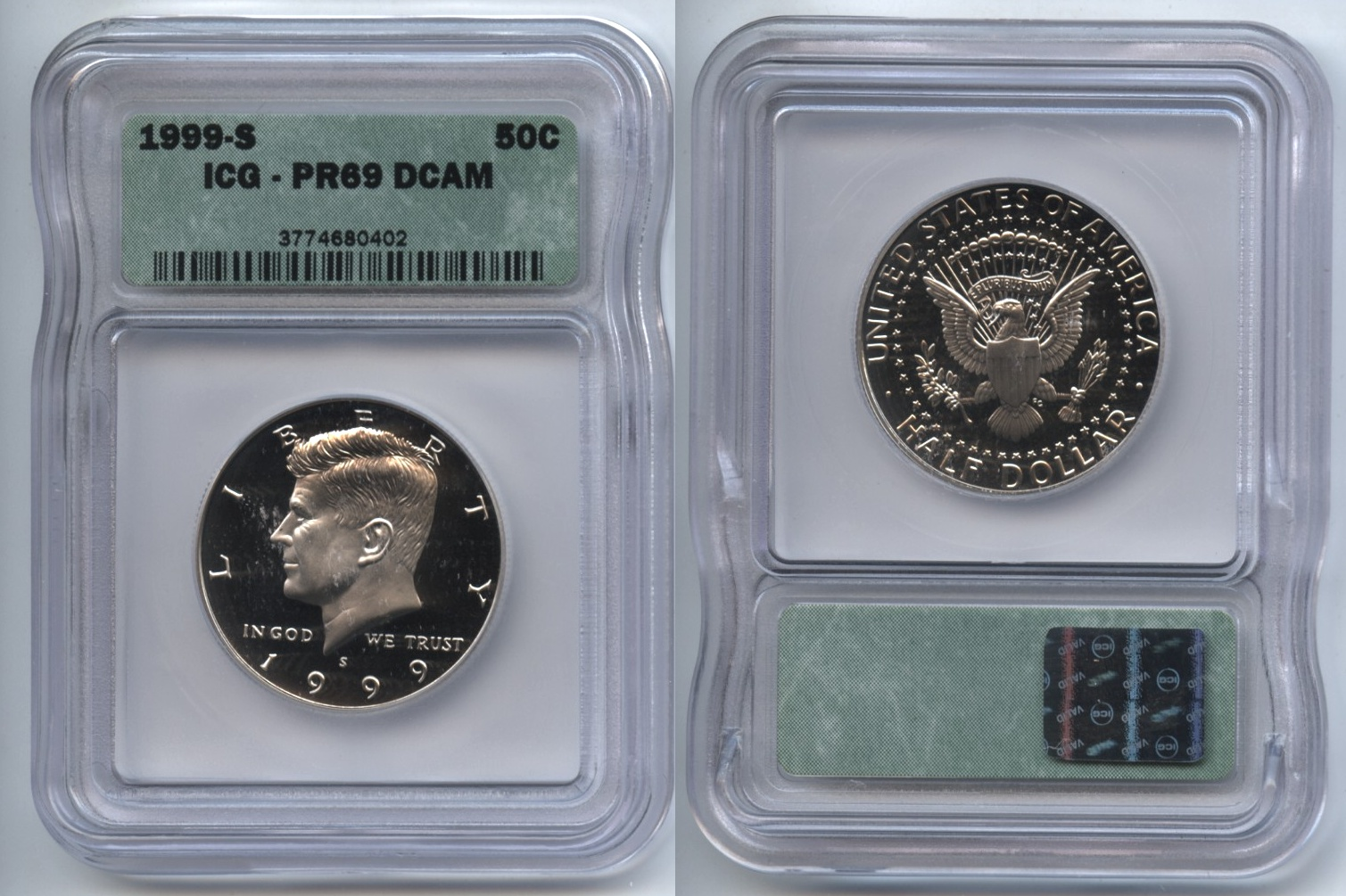 1999-S Clad Kennedy Half Dollar ICG Proof-69 Deep Cameo #n