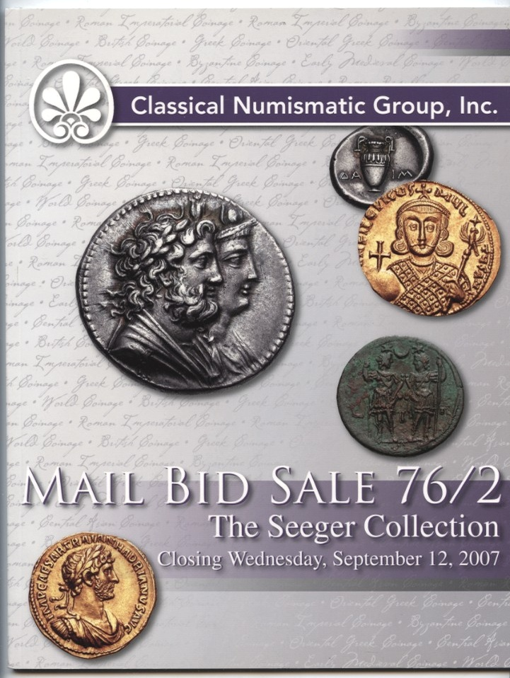 Classical Numismatic Group Mail Bid Sale Auction 76/2 September 2007