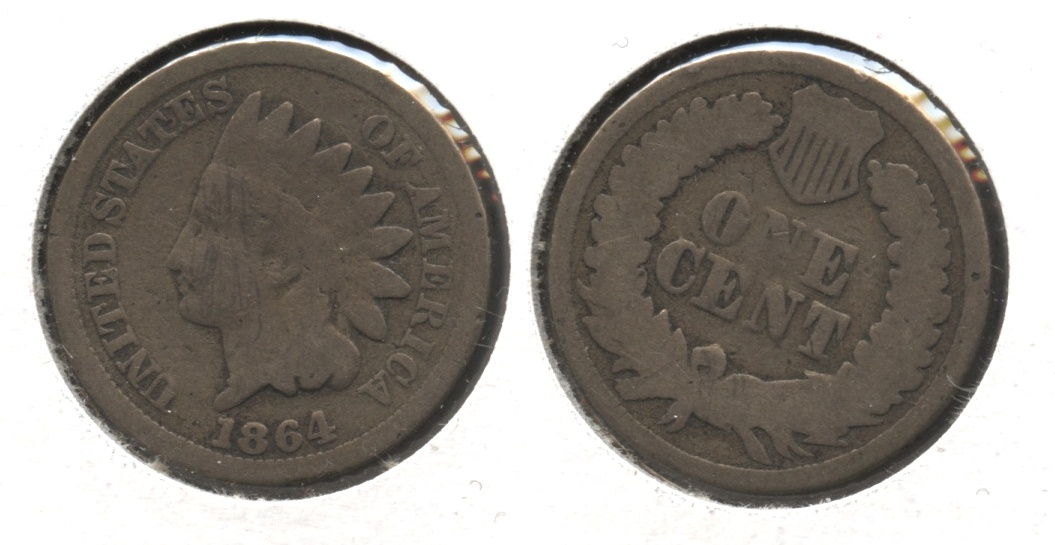 1864 Copper Nickel Indian Head Cent AG-3 #g