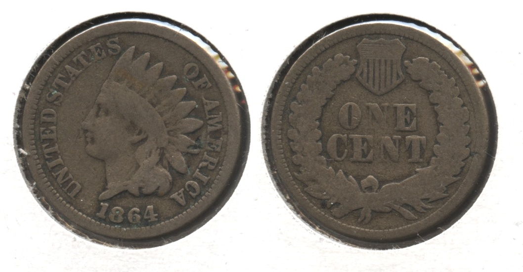 1864 Copper Nickel Indian Head Cent Good-4 #bo