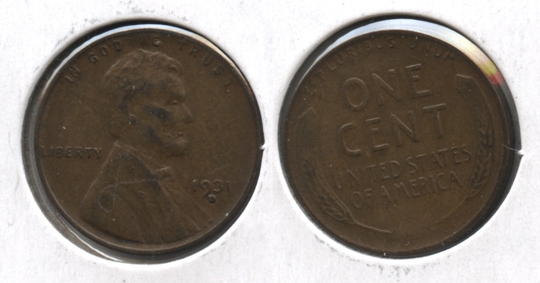 1931-D Lincoln Cent EF-40 #o