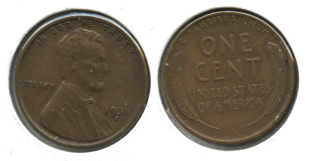 1931-S Lincoln Cent EF-40 #m