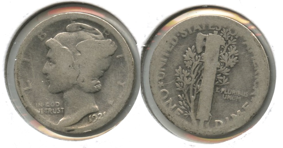 1921 Mercury Dime Fair-2 #m