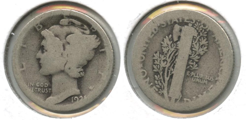 1921 Mercury Dime Fair-2 #p