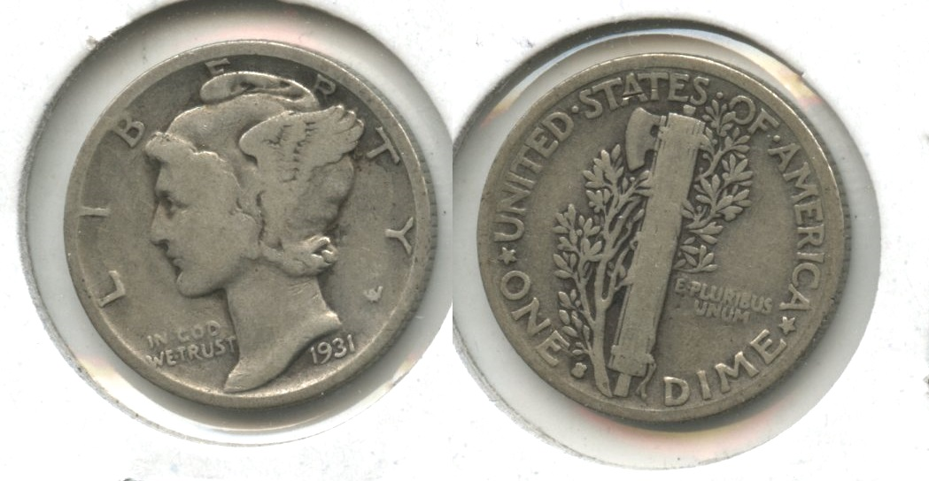 1931-S Mercury Dime Good-4 #c