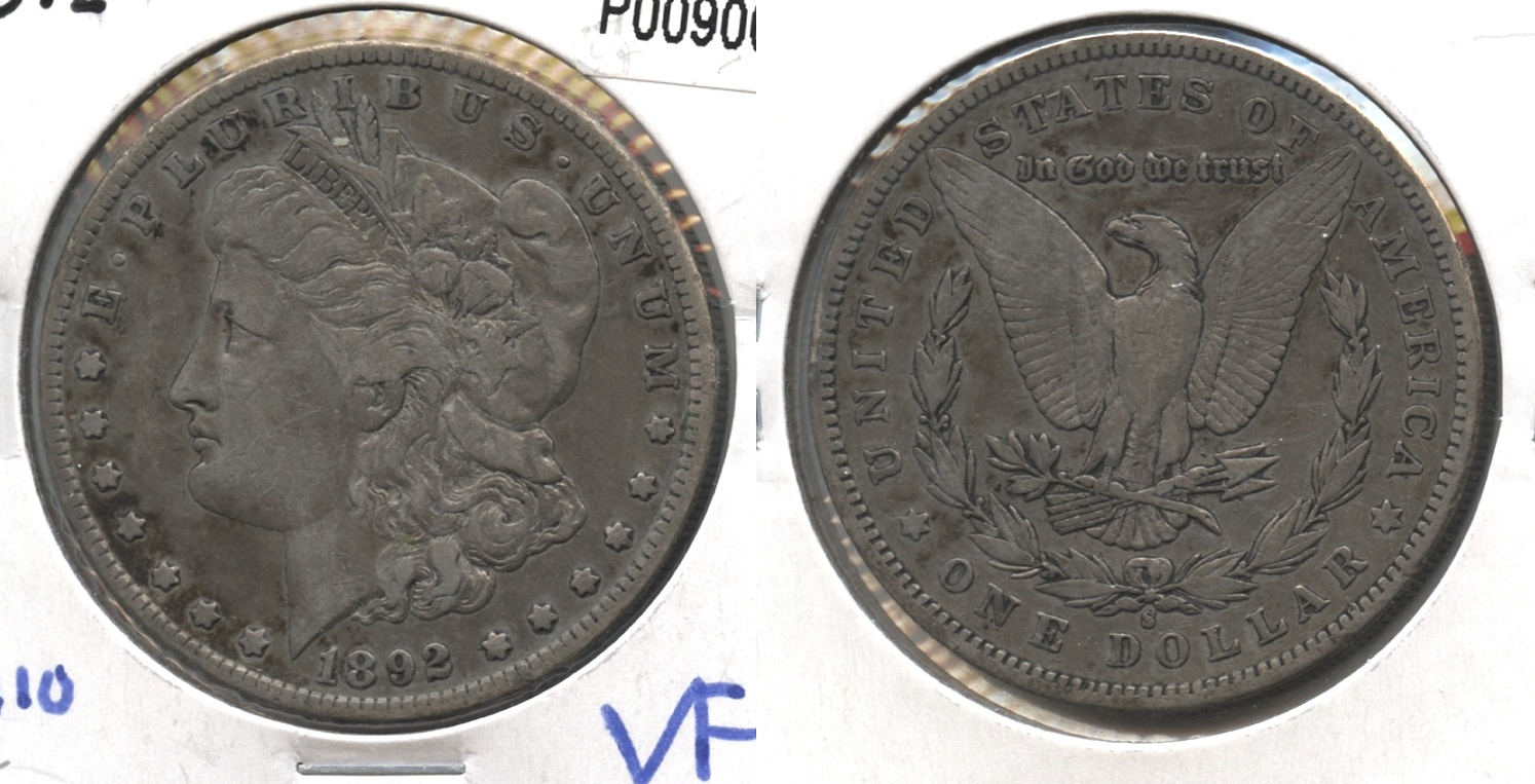1892-S Morgan Silver Dollar VF-20 #a