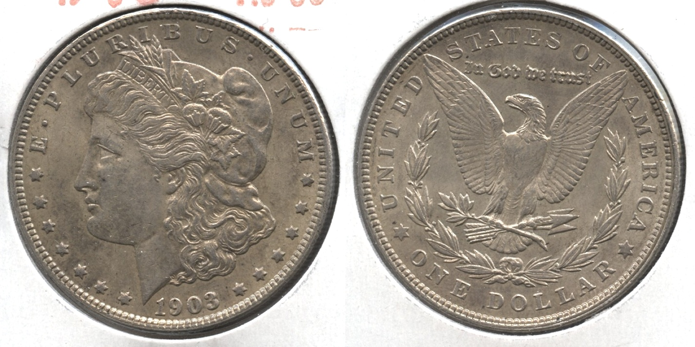 1903 Morgan Silver Dollar AU-50 #l