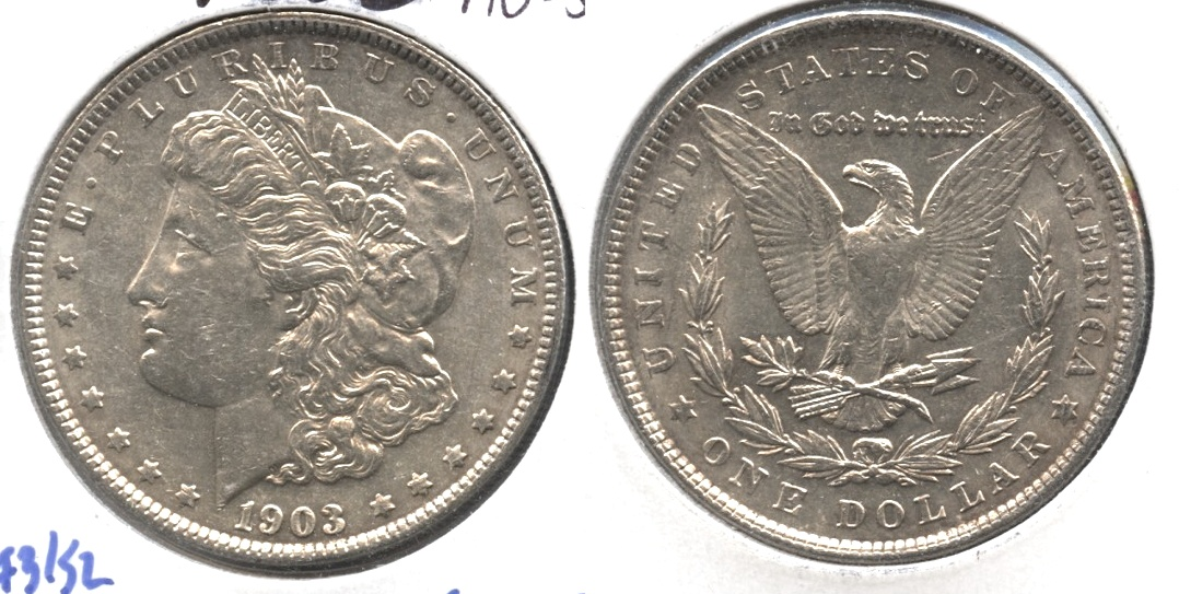 1903 Morgan Silver Dollar AU-55 #i