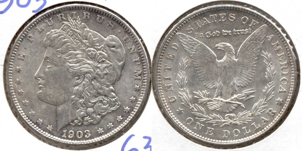 1903 Morgan Silver Dollar MS-62