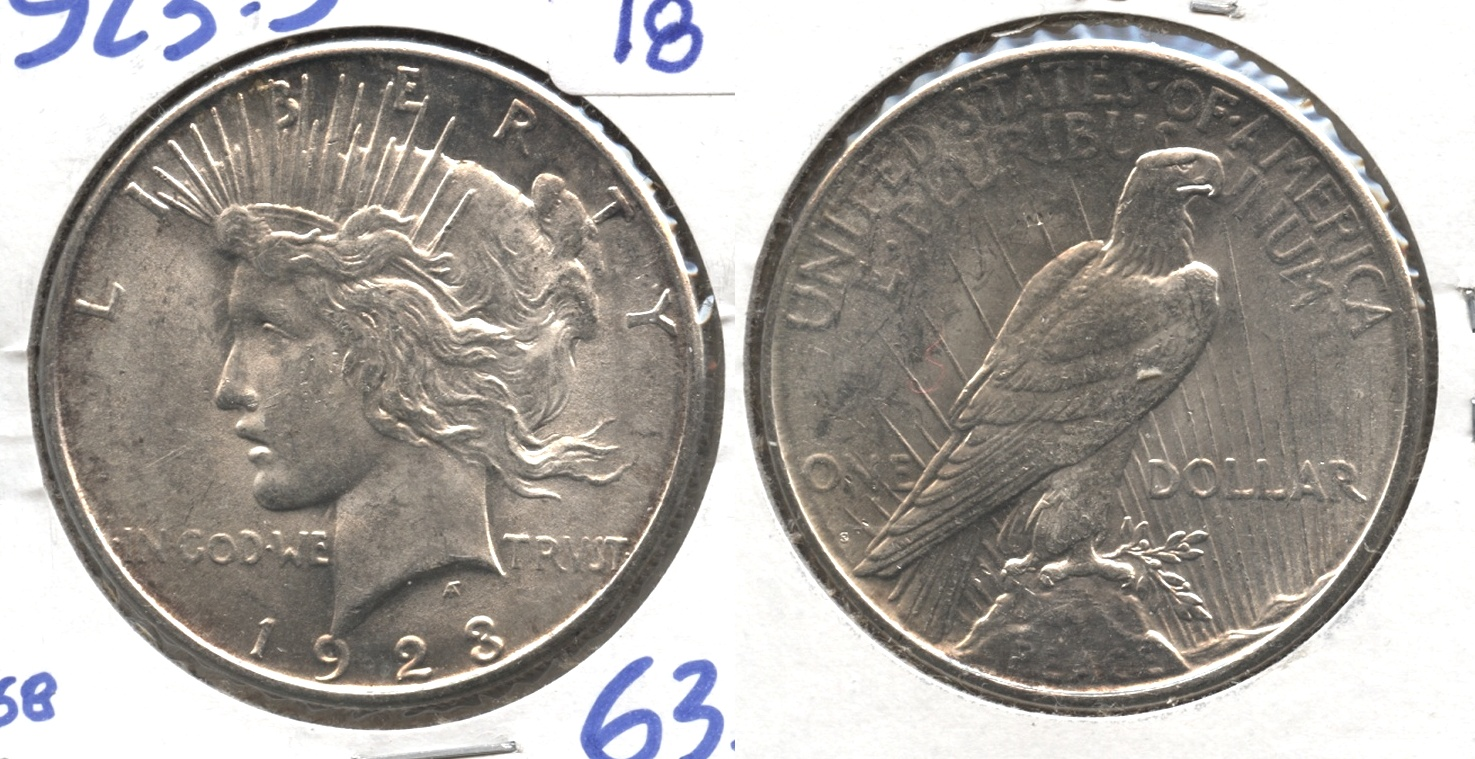 1923-S Peace Silver Dollar MS-62 #a